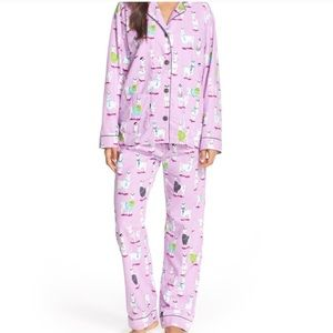 PJ Salvage Purple Llama Flannel Pajamas